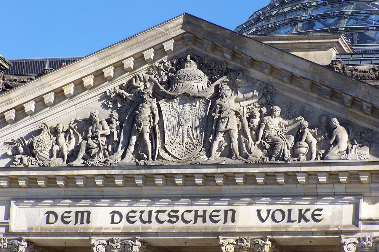 """La devise """"Au peuple allemand"""""""