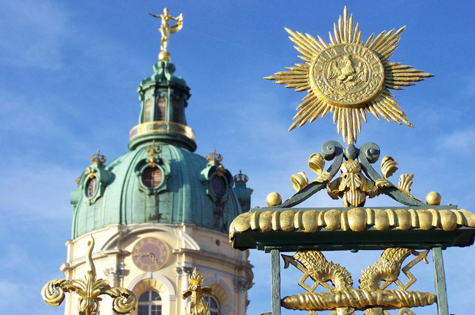 Dorures sur le portail de Charlottenburg