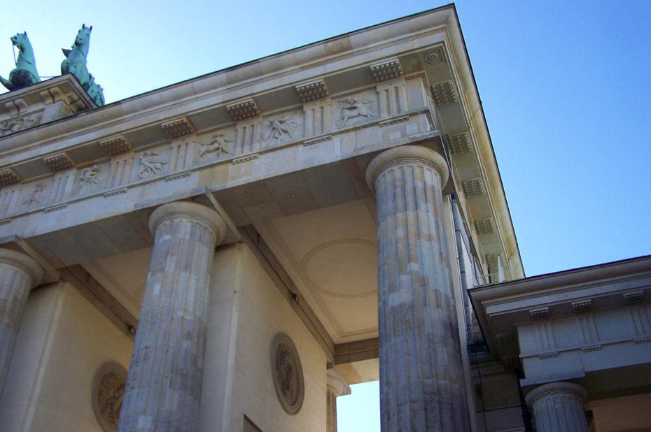 Les colonnes de la porte de Brandebourg