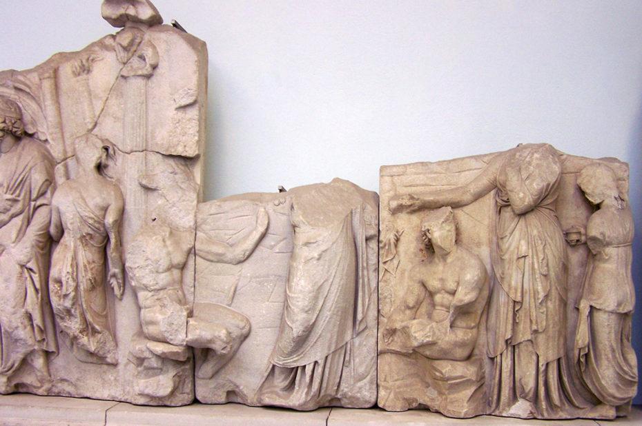 Fragment de temples grecs
