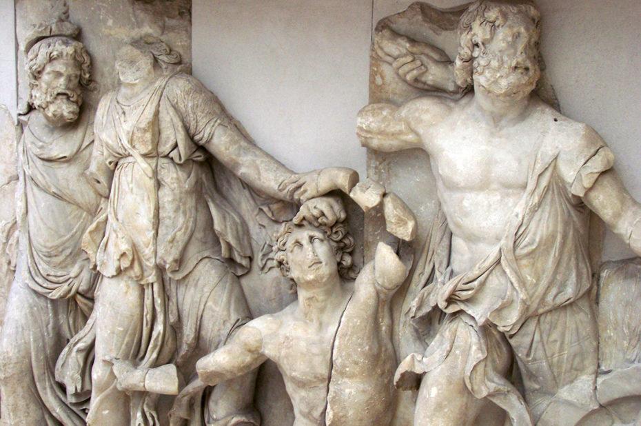 Frise racontant la légende de Télèphe