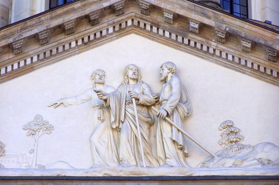 Fronton de la cathédrale allemande