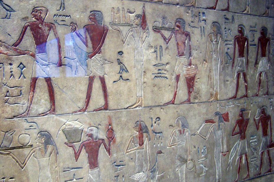 Hiéroglyphes sur la stèle du chambellan Sesostris