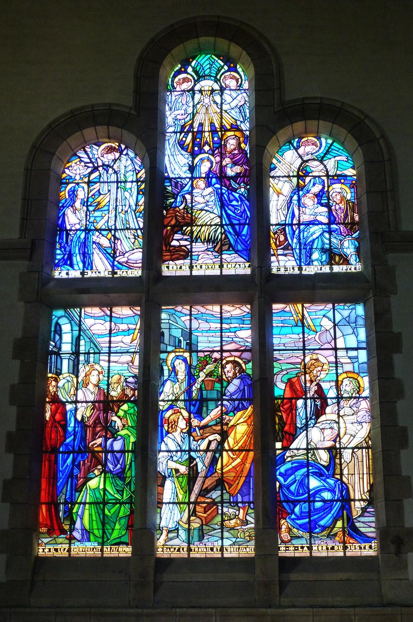 Les magnifiques vitraux de l'église Saint-Joseph