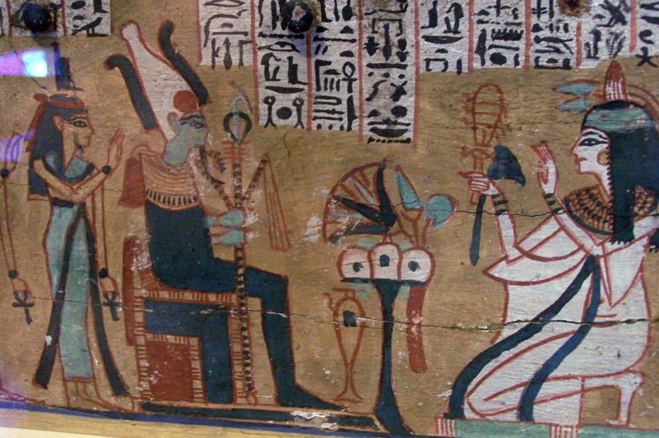 Osiris sur son trône dans le domaine de la mort