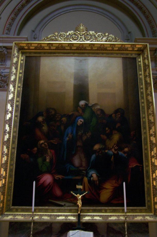 Peinture dans l'une des chapelles
