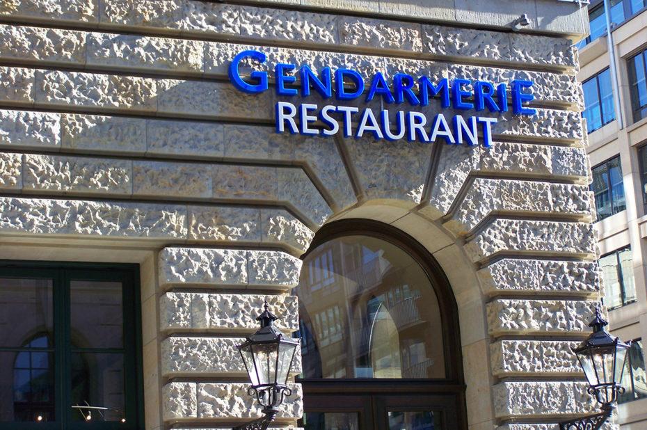 Gendarmerie, un restaurant au nom original