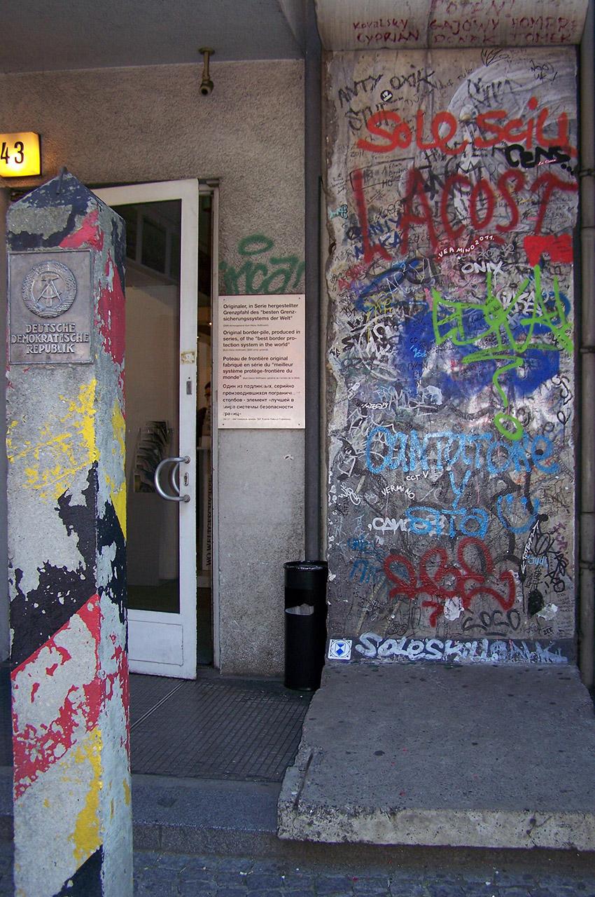 Les restes du Mur de Berlin, détruit en 1989