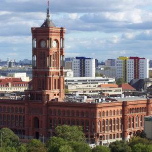 Le Rotes Rathaus, l'Hôtel de Ville de Berlin