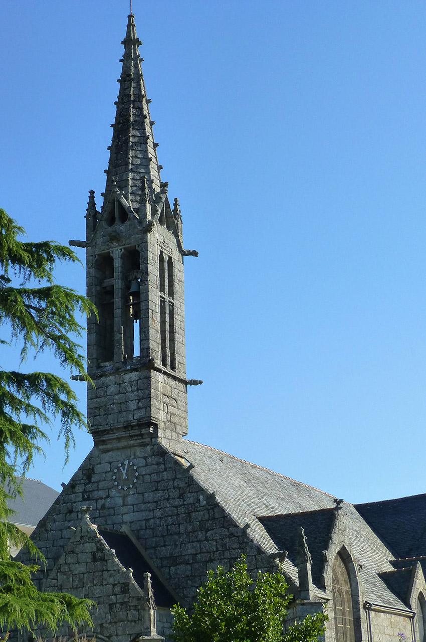 Clocher d'une église bretonne