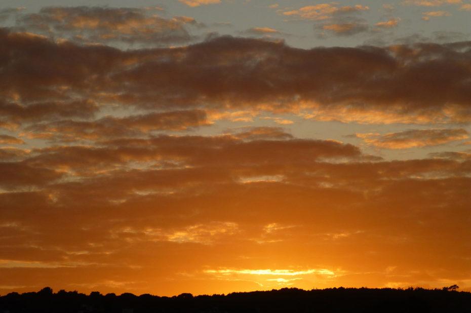 Magnifiques couleurs du coucher de soleil