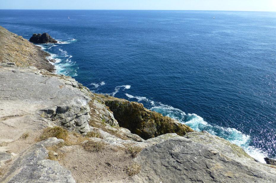 Des falaises jusqu'à 70 m de haut