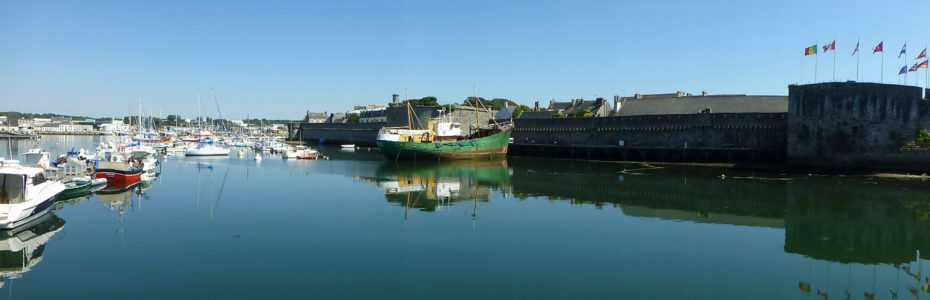 Panorama du port et de la cité de Concarneau