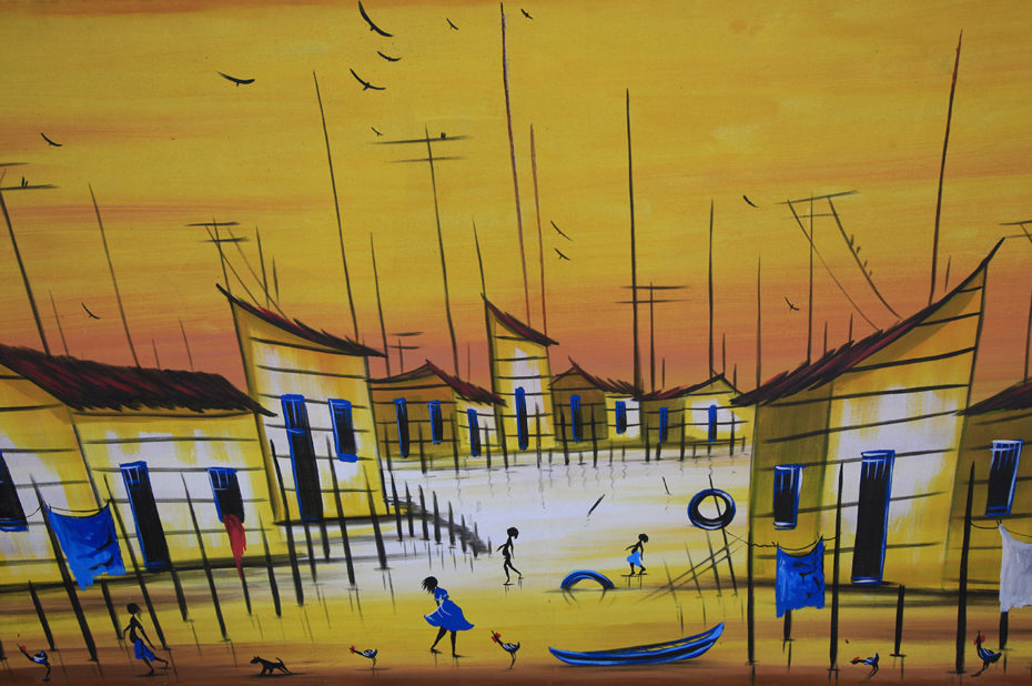 Peinture d'un artiste de rue brésilien