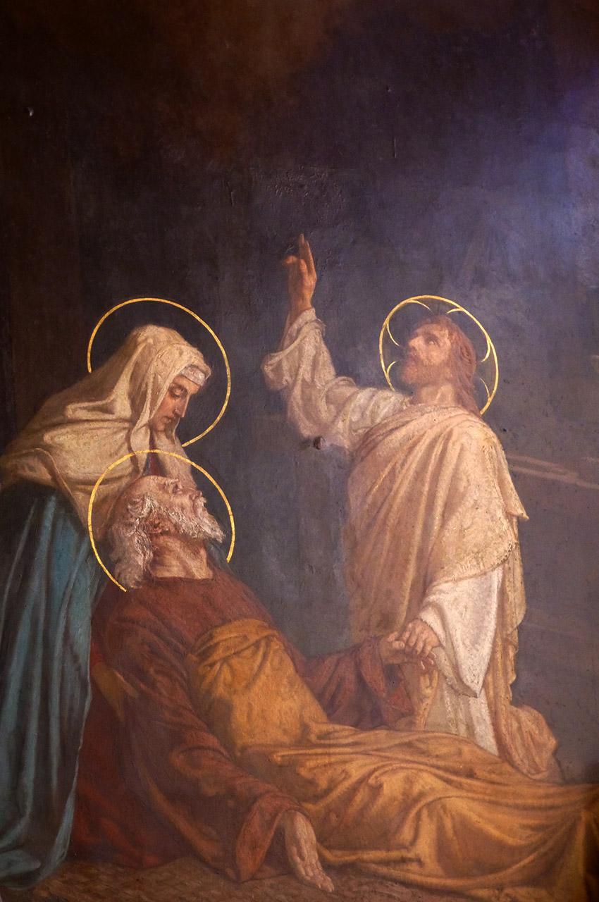 Peinture dans la chapelle de Saint-Joseph