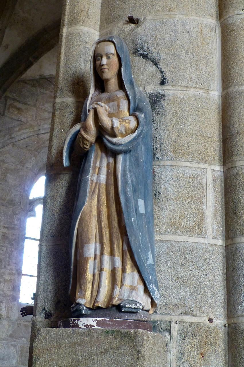 La Vierge debout près de son Fils (bois polychrome XVIIe siècle)