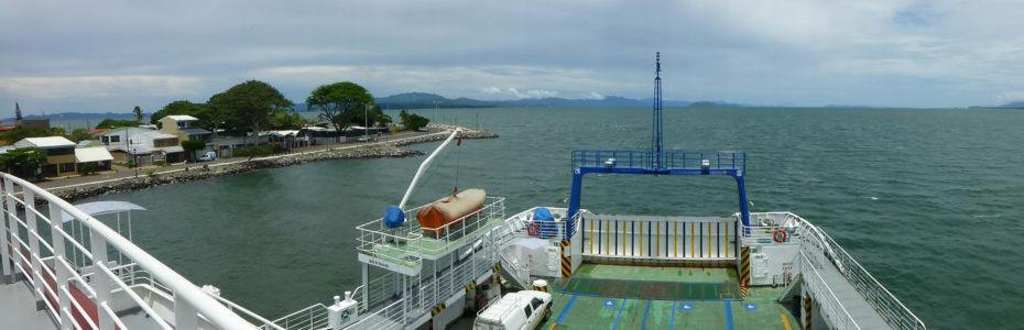 Sur le ferry, à Puntarenas