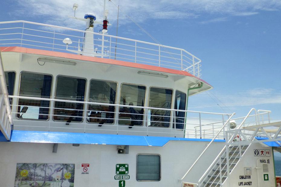 Le ferry qui relie Puntarenas à la presqu'île de Nicoya