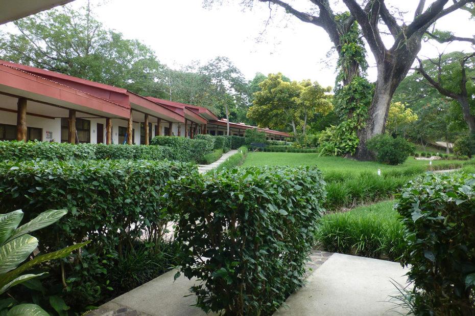 La Hacienda Guachipelin dans un havre de verdure