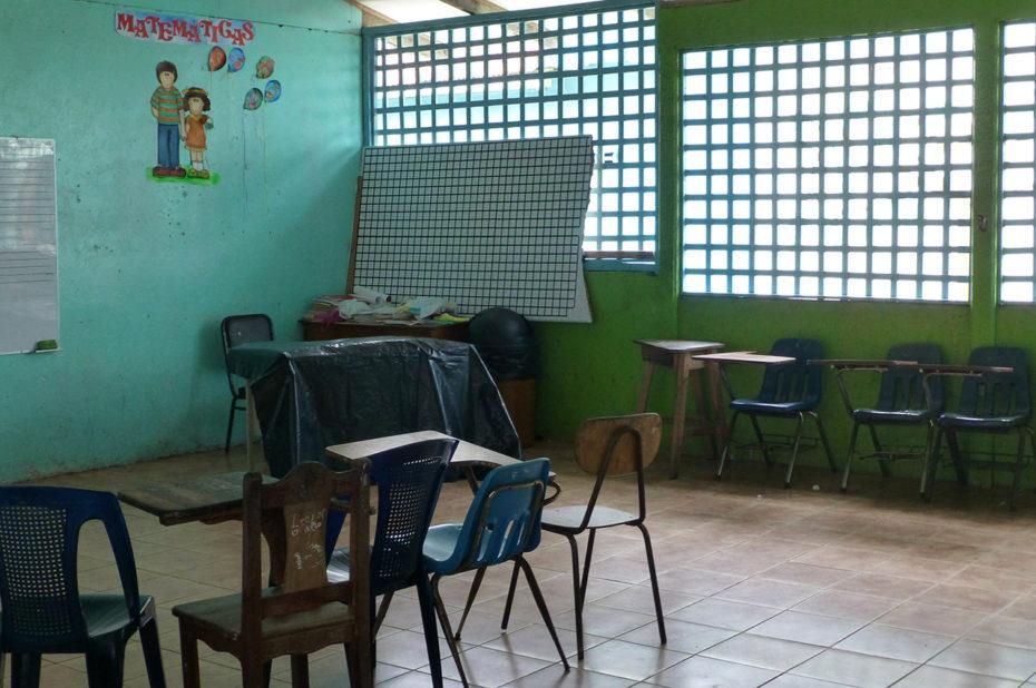 Une salle de classe de l'école