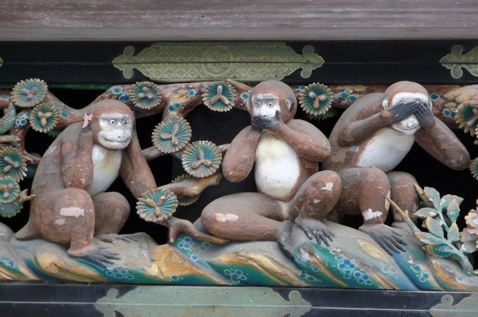 Les 3 singes de la sagesse à Nikko