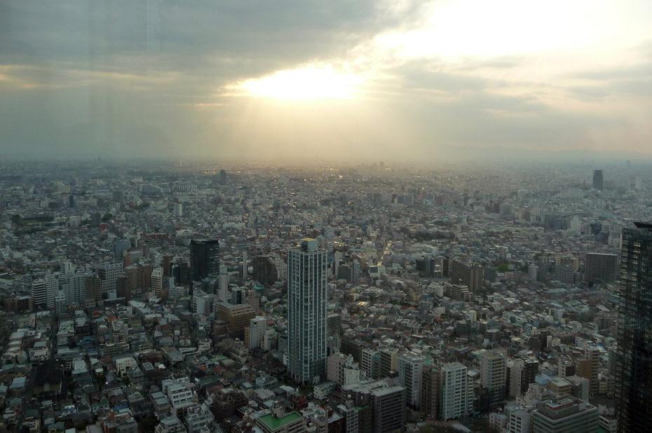 Vue sur la ville depuis le 45e étage de la mairie de Tokyo