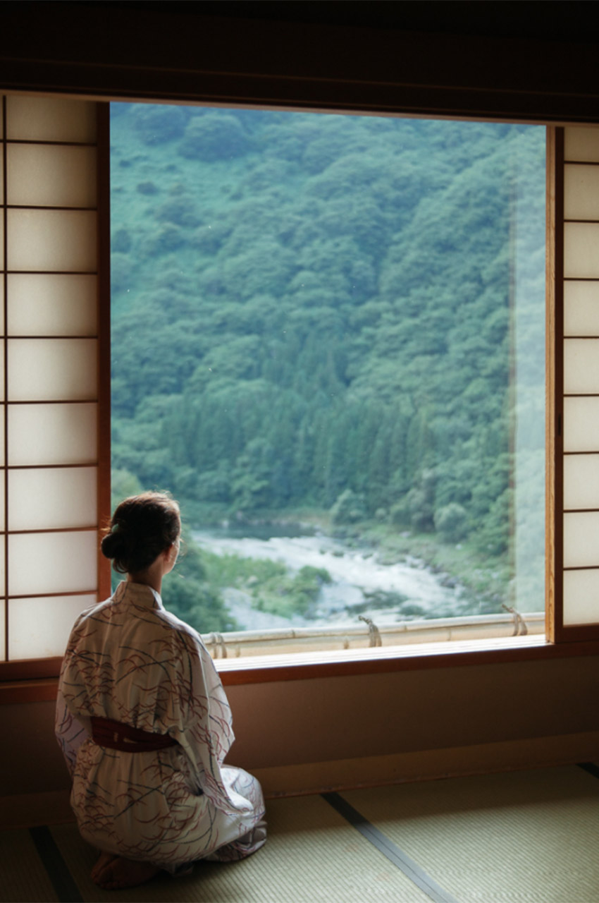 Calme et repos dans un Ryokan