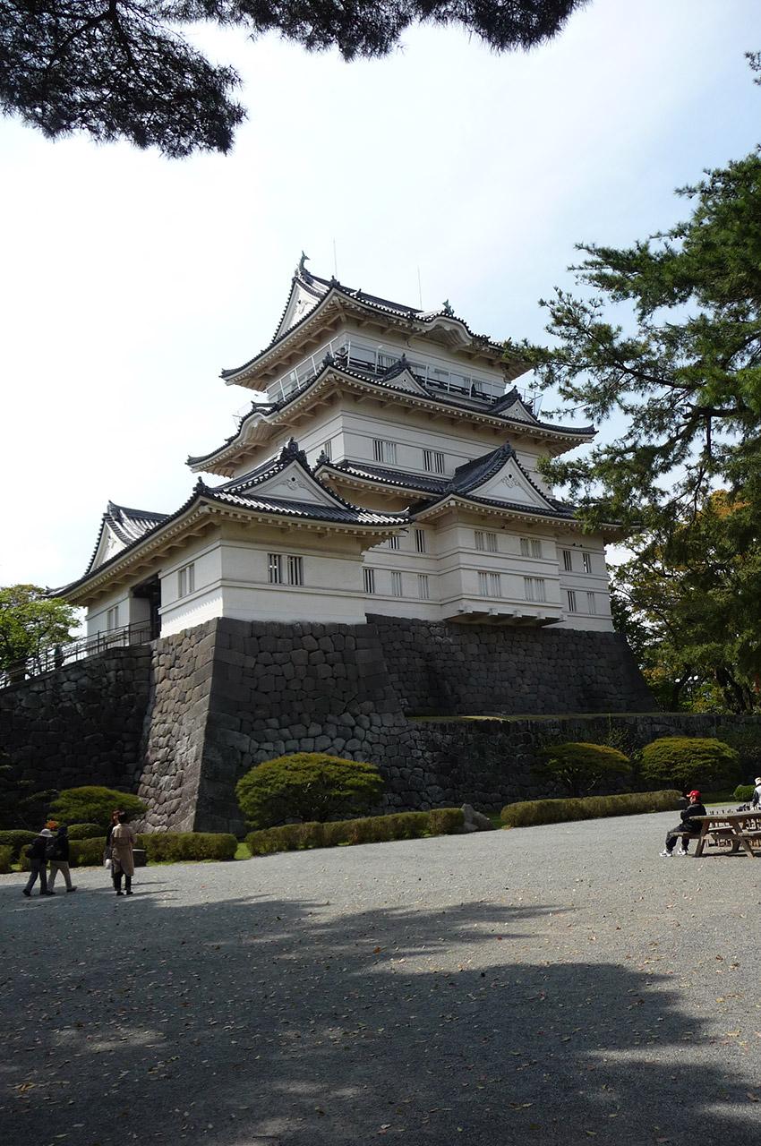 Le château d'Odawara a été détruit puis reconstruit