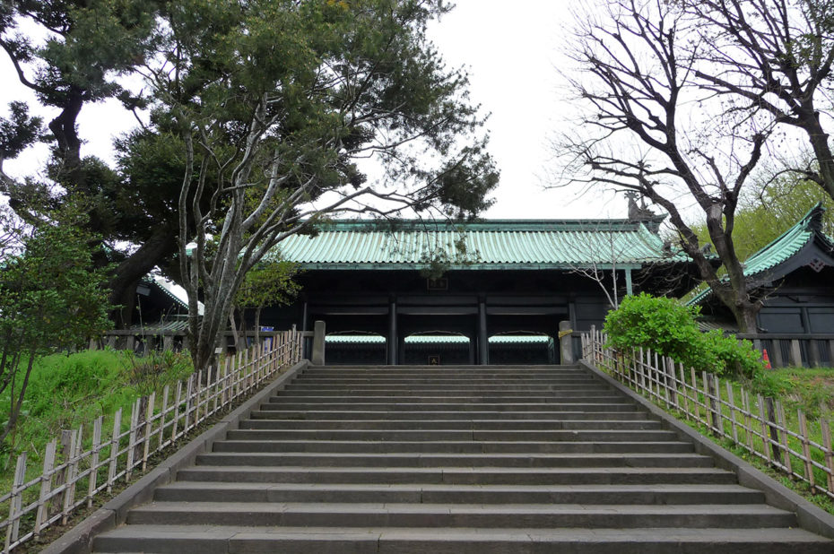 Escalier menant au temple de Confucius Yushima Seidō