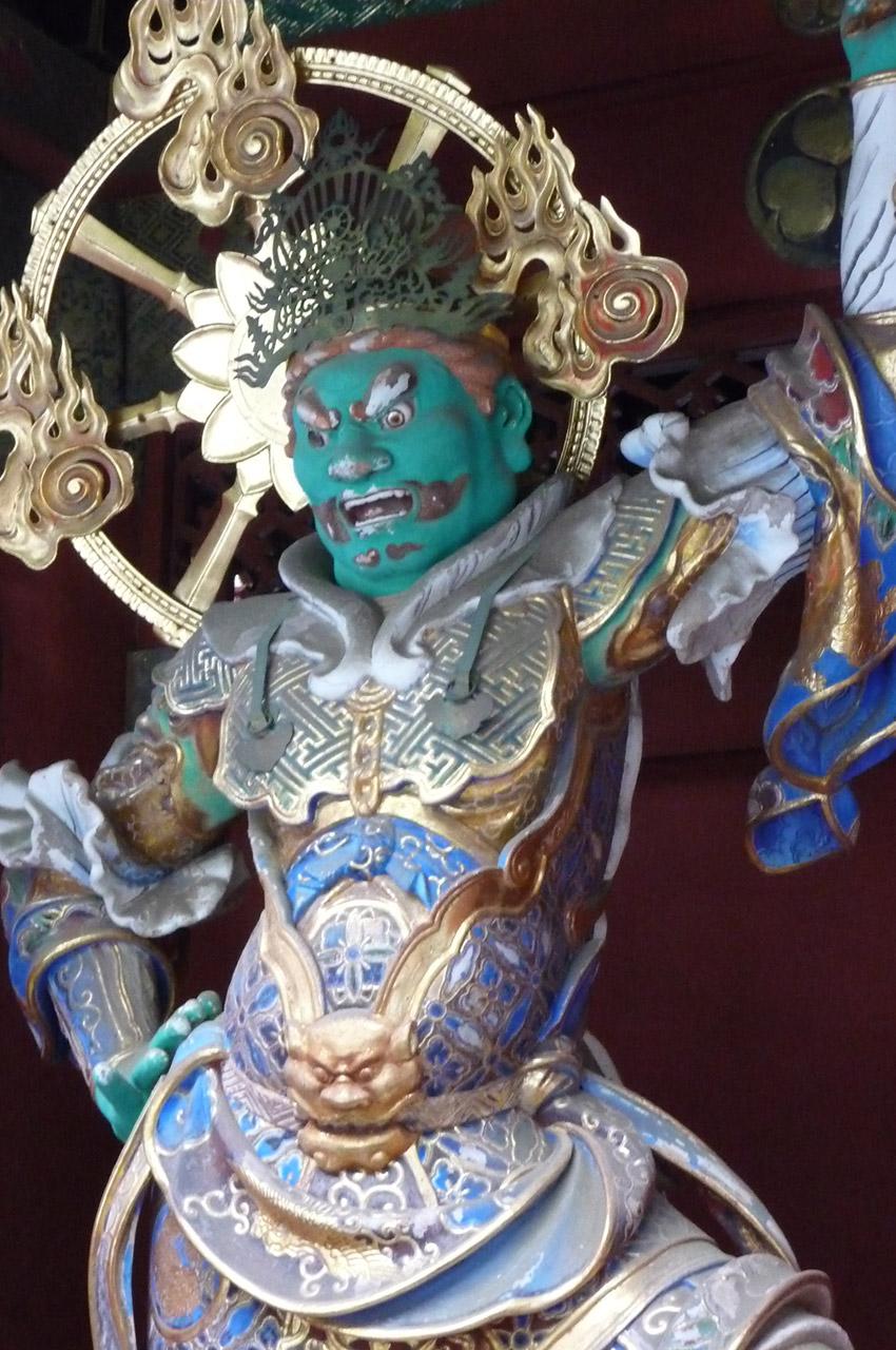 Jikokuten, gardien de l'est du temple