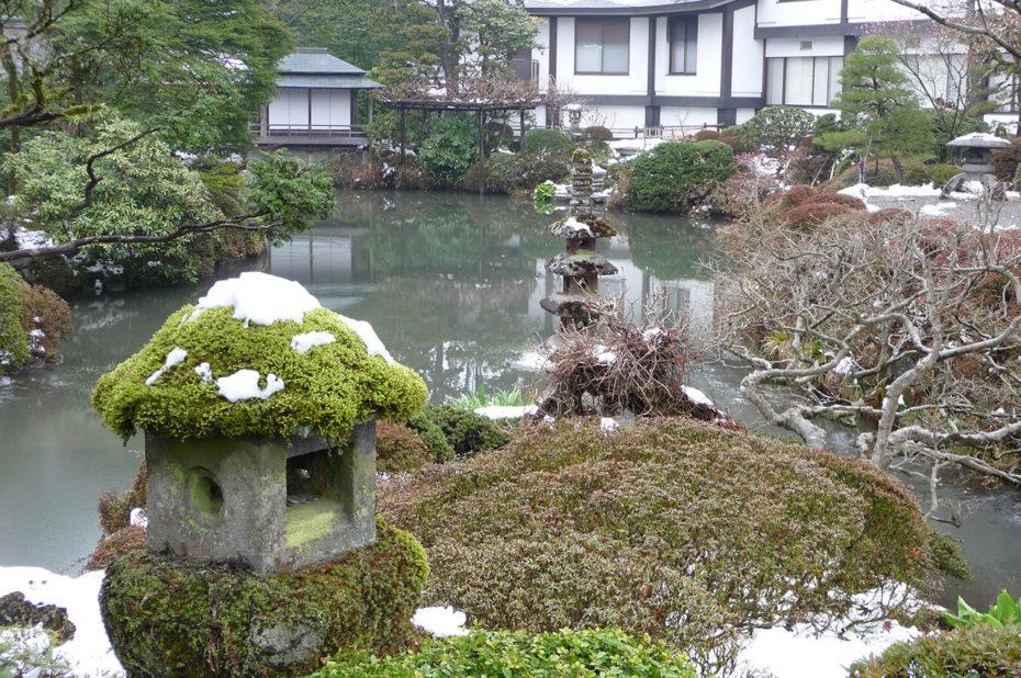 Jardin japonais de Nikko sous la neige