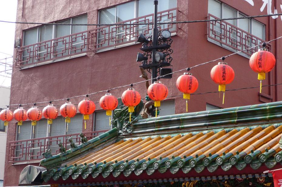 Lanternes dans le quartier chinois