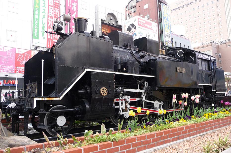Locomotive à la gare de Shimbashi