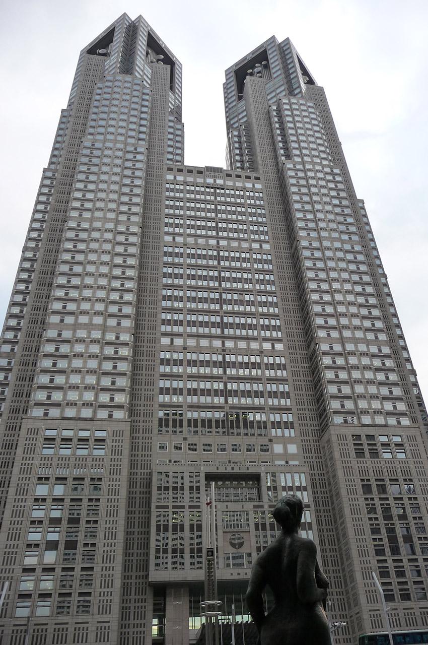La mairie de Tokyo réalisée par l'architecte Kenzo Tange