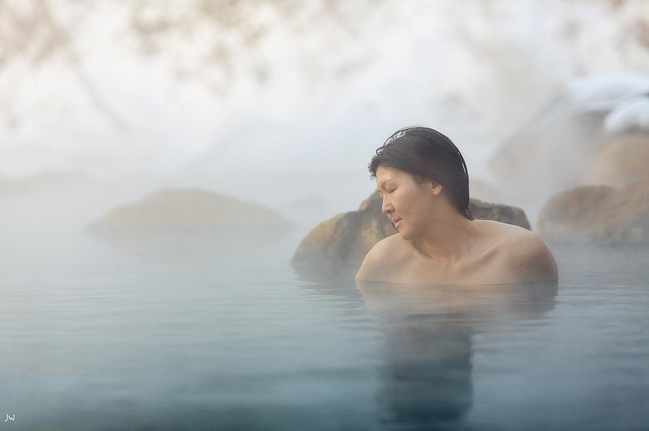Moment de détente dans un onsen
