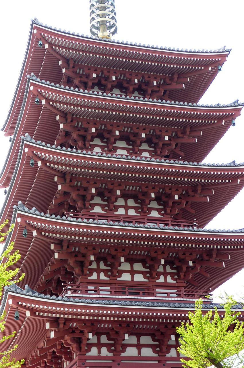 Pagode à 5 étages du temple Sensō-ji