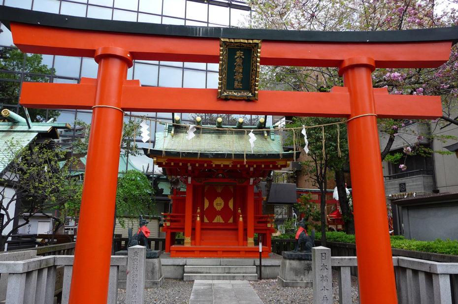 Petit temple du dieu Inari au Kanda Myojin