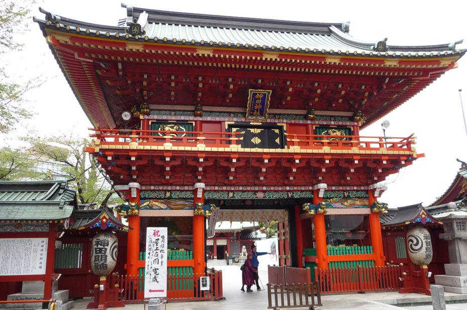 Portail rouge du sanctuaire Kanda-myōjin