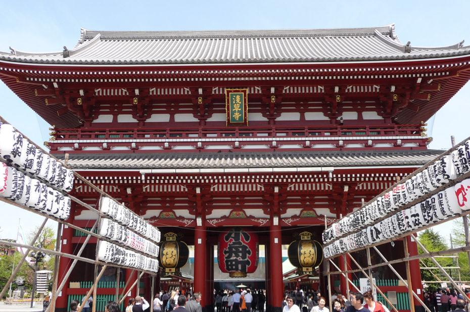 Le quartier d'Asakusa à Tokyo, le long de la rivière Sumida