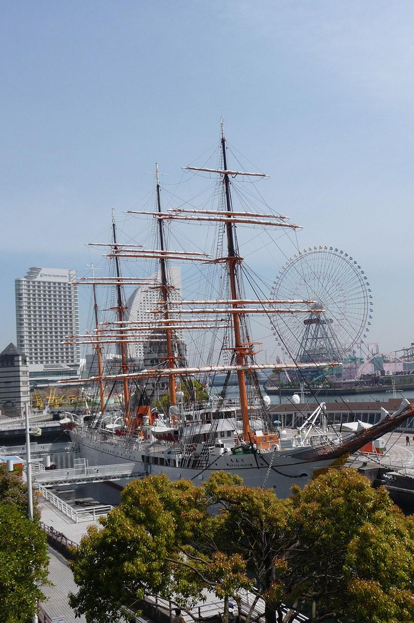 Dans le quartier de Minato Mirai 21