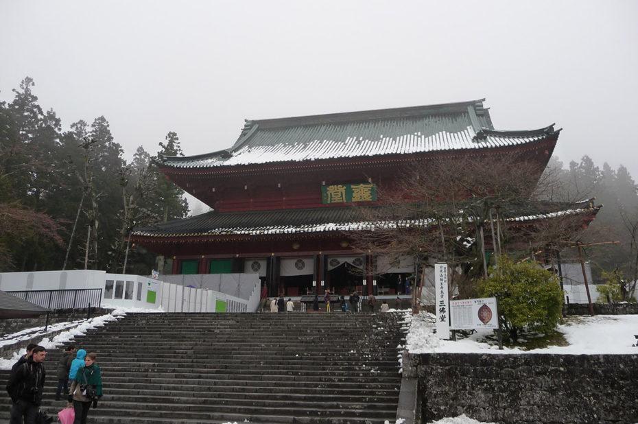 Temple bouddhiste de Nikko sous la neige