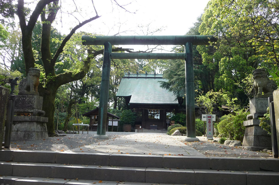 Le temple shinto dans l'enceinte du château