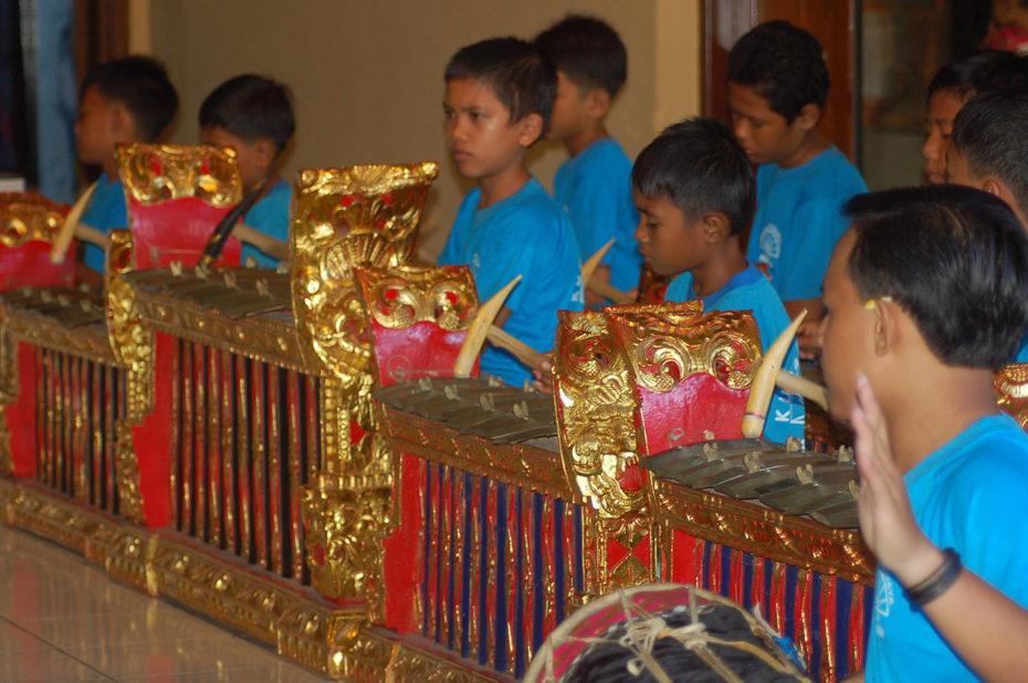 L'apprentissage du gamelan est réservé aux garçons