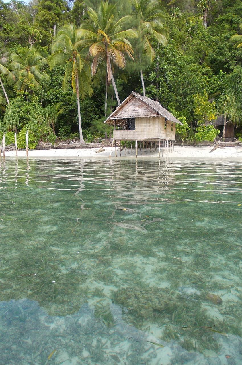 Tranquillité absolue dans ce bungalow sur la plage d'une île déserte