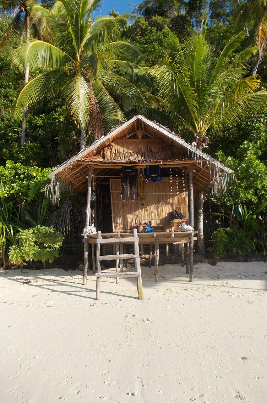 Petite hutte sur la plage