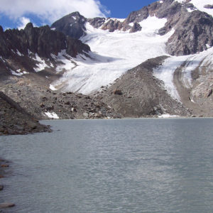 Le lac et le glacier des Quirlies