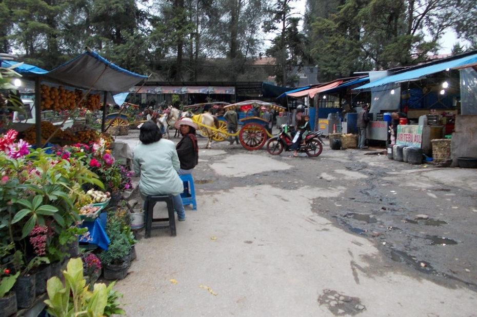 Le marché de Berastagi regorge de fruits frais
