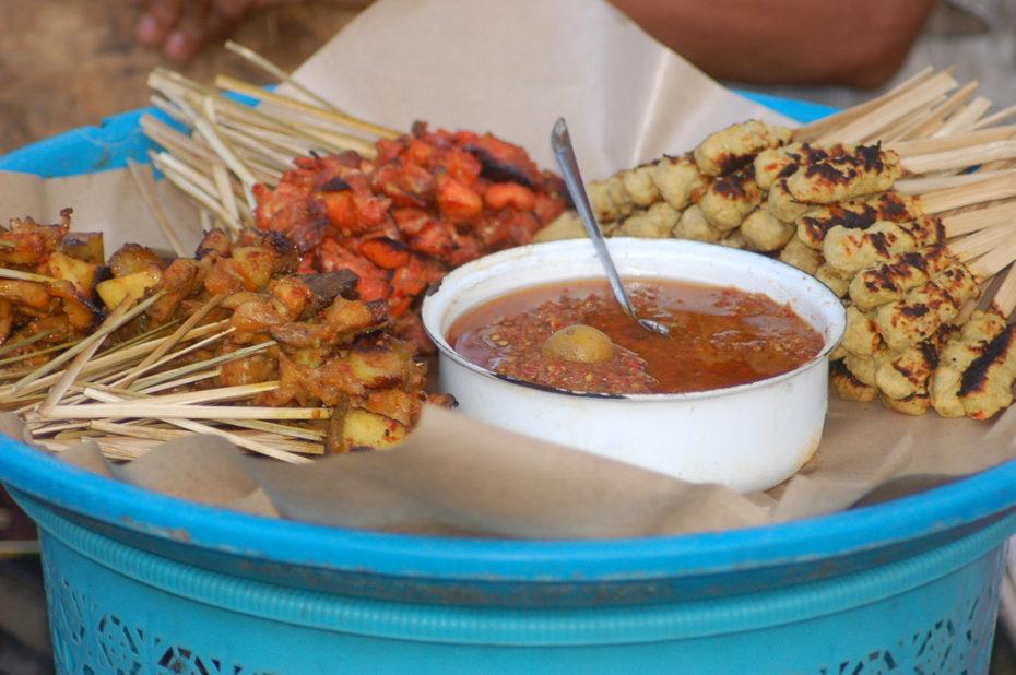 Nourriture pour la fête au temple