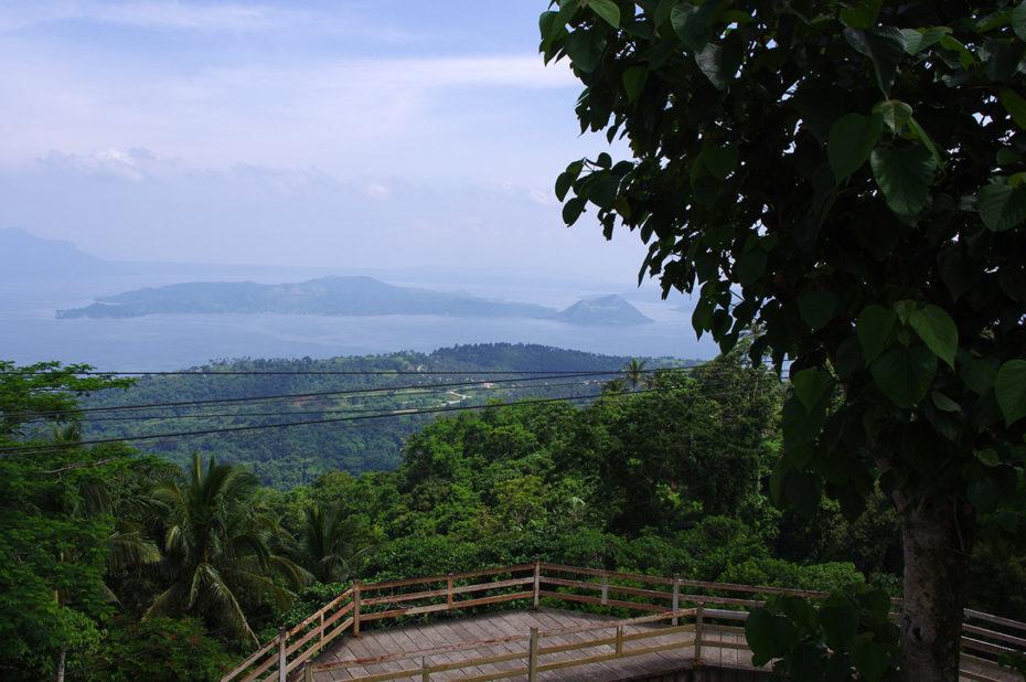 Observatoire sur le lac Taal à Tagaytay
