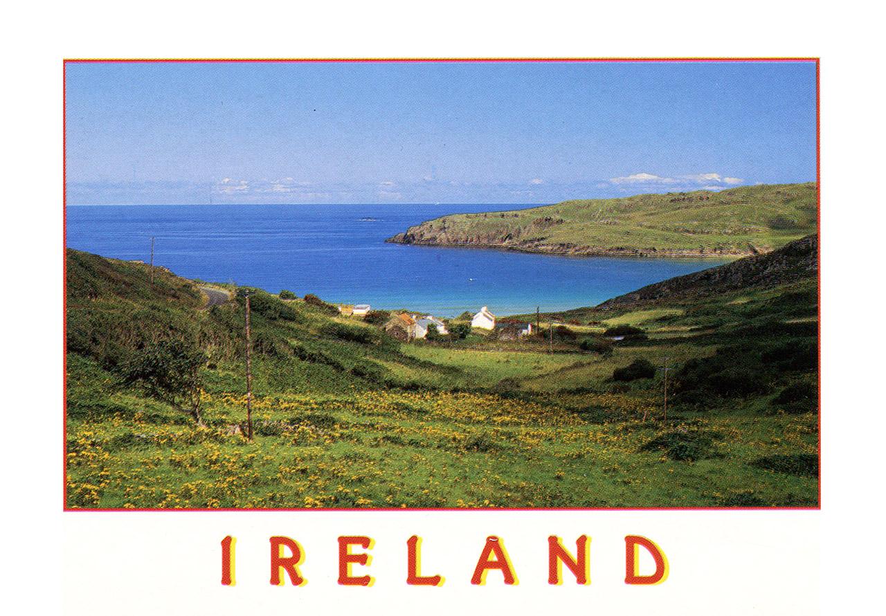 Paysage verdoyant d'Irlande